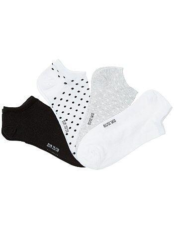 Menina 10-18 anos - Lote de 4 pares de meias invisíveis - Kiabi