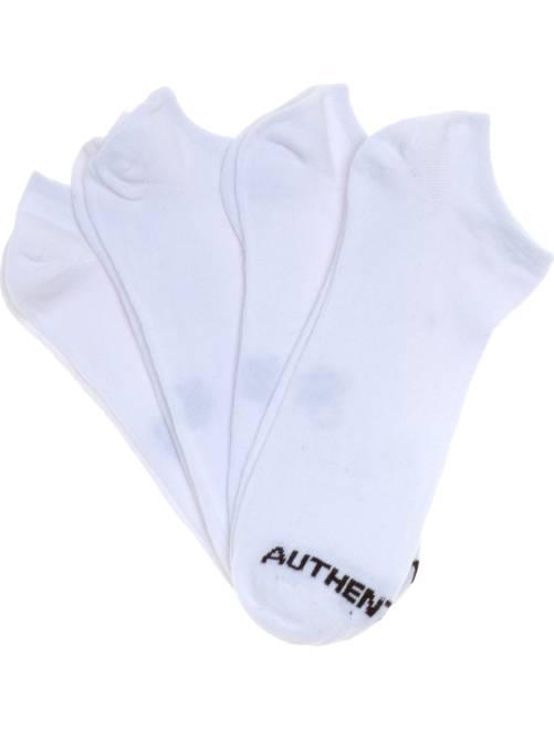 Lote de 4 pares de meias invisíveis Branco Homem tamanhos grandes