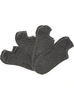 Meias - Lote de 4 pares de meias invisíveis - Kiabi