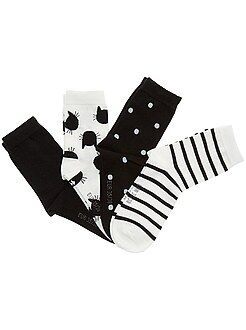 Collants, meias - Lote de 4 pares de meias - Kiabi