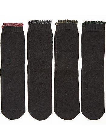 Menina 10-18 anos - Lote de 4 pares de meias - Kiabi