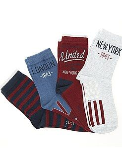 Meias - Lote de 4 pares de meias