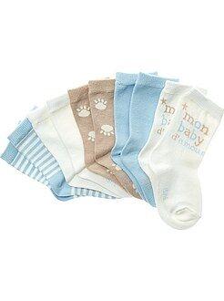 Meias - Lote de 5 pares de meias - Kiabi