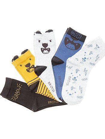 Lote de 5 pares de meias de fantasia - Kiabi