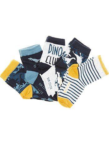 Lote de 5 pares de meias 'dinossauros' - Kiabi