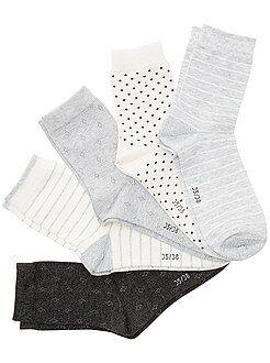 Collants, meias - Lote de 5 pares de meias