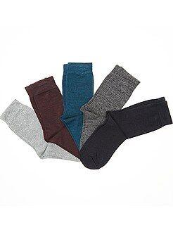 Meias - Lote de 5 pares de meias