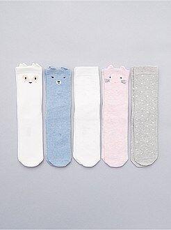 Collants, meias - Lote de 5 pares de meias - Kiabi