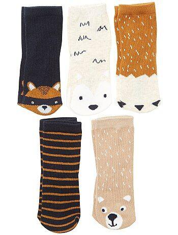 Lote de 5 pares de meias 'raposa' - Kiabi