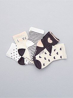 Meias, collants - Lote de 5 pares de meias - Kiabi