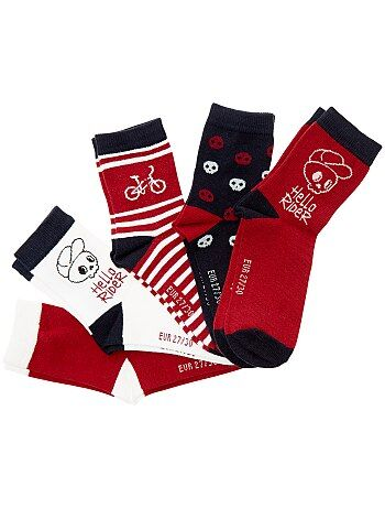 Lote de 5 pares de meias 'vélo' - Kiabi