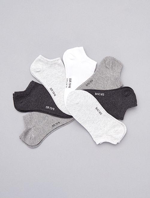 Lote de 7 pares de meias invisíveis                                                                             Cinza