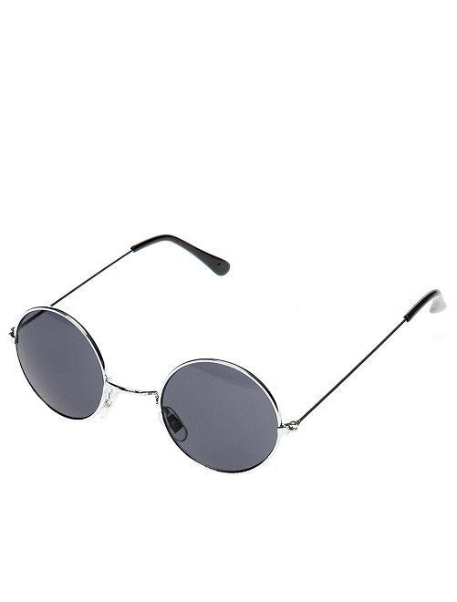 Óculos redondos de fato de hippie                                                                                         Preto