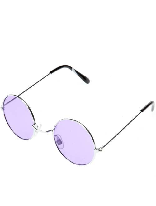 Óculos redondos de fato de hippie                                                                                         Violeta