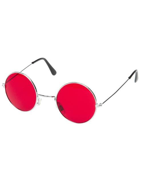 Óculos redondos hippie                                                                                         Vermelho