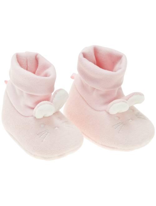 Pantufas com 'coelho'                                                     Rosa Menina 0-36 meses
