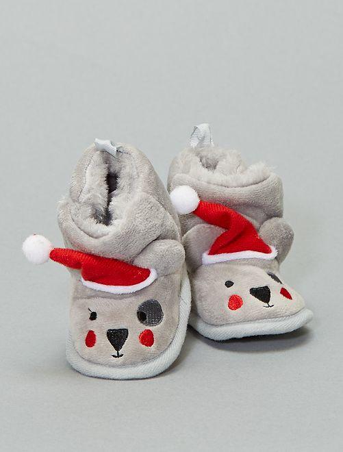 Pantufas Natal                                                     cinza