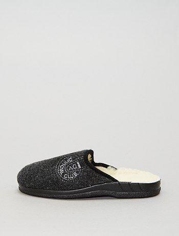 Pantufas tipo chinelas com interior em lã - Kiabi