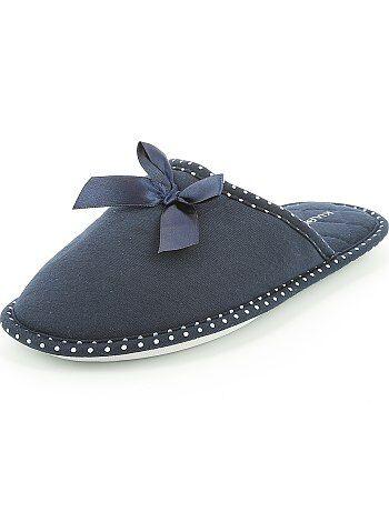 Pantufas tipo chinelas com laço de fantasia - Kiabi