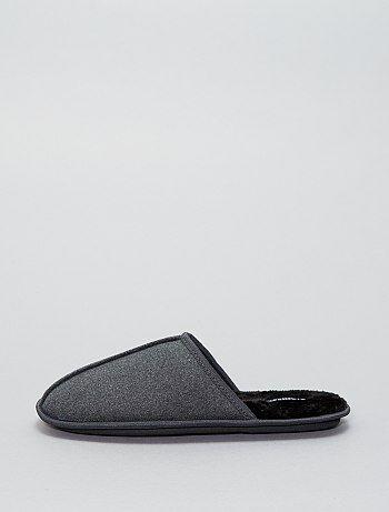 Pantufas tipo chinelas de camurça - Kiabi