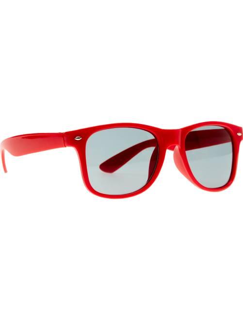 Par de óculos quadrados                                                                                                     Vermelho