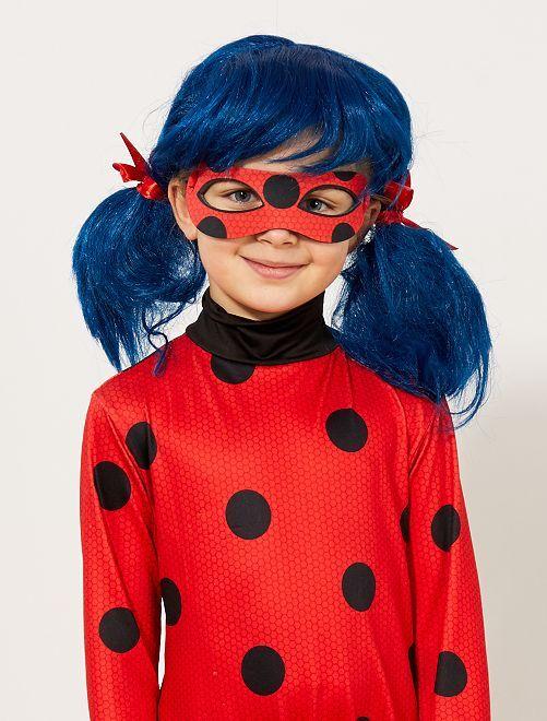 Peruca 'Ladybug' 'Miraculous'                             bleu/rouge