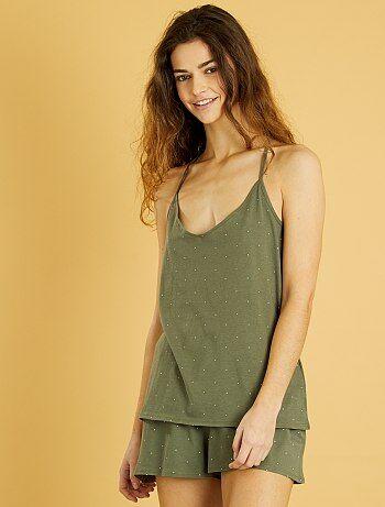 Pijama-calção estampado - Kiabi