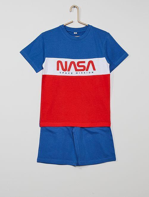 Pijama-calção 'NASA'                             Azul