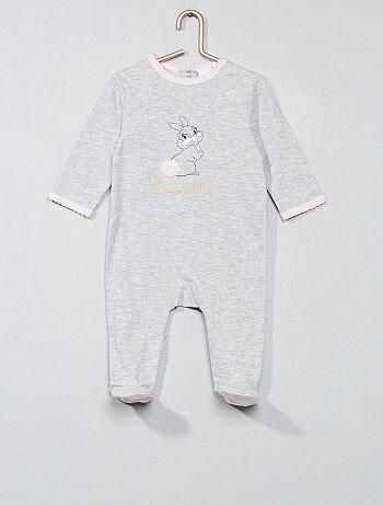 Pijama com estampado 'Miss Bunny' - Kiabi