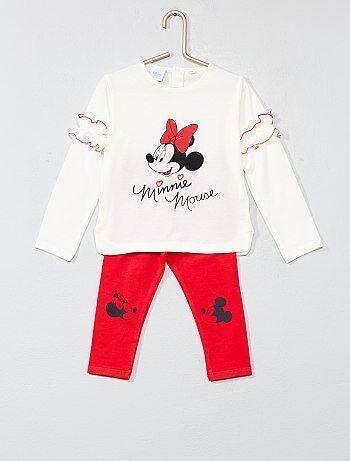 Pijama com folhos 'Minnie' - Kiabi