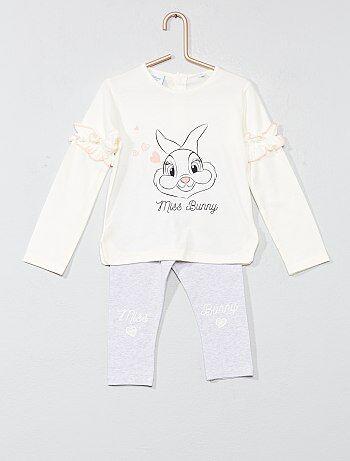 Pijama com folhos 'Miss Bunny' - Kiabi