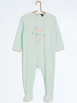 Pijama, roupão - Pijama com pés e estampado animal