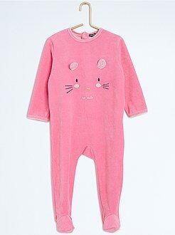 Pijama, roupão - Pijama com pés e estampado animal - Kiabi