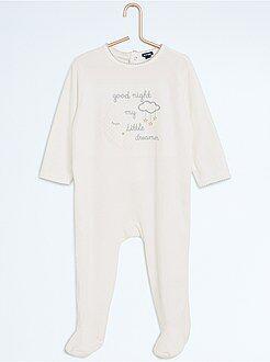 Pijama, roupão - Pijama com pés e estampado noite - Kiabi