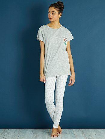 Pijama comprido 'A Pequena Sereia' - Kiabi
