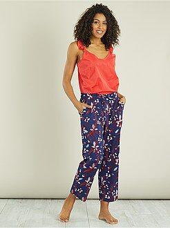 Pijama comprido com a parte inferior estampada - Kiabi