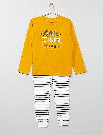 Pijama comprido com estampado - Kiabi