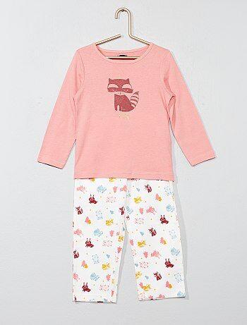 Pijama comprido com estampado raposa - Kiabi