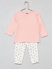 Pijama comprido de algodão biológico