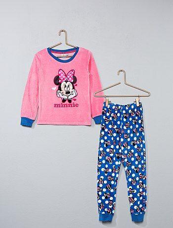 Pijama comprido de veludo 'Minnie' - Kiabi