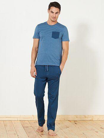 Pijama comprido em jersey - Kiabi