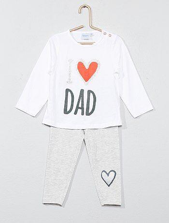 3229deb25 Menina 0-36 meses - Pijama comprido estampado - Kiabi