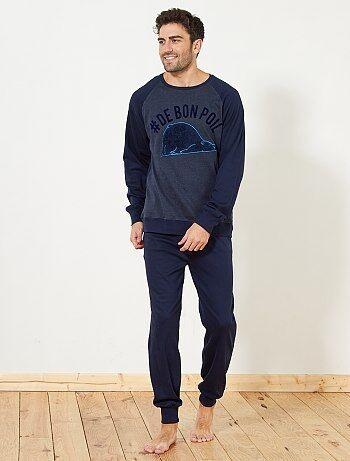 Pijama comprido grosso - Kiabi
