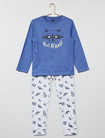 Pijama comprido 'guaxinim' fluorescente - Kiabi