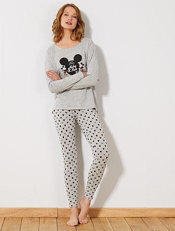 Pijama comprido 'Mickey & Minnie' - Kiabi