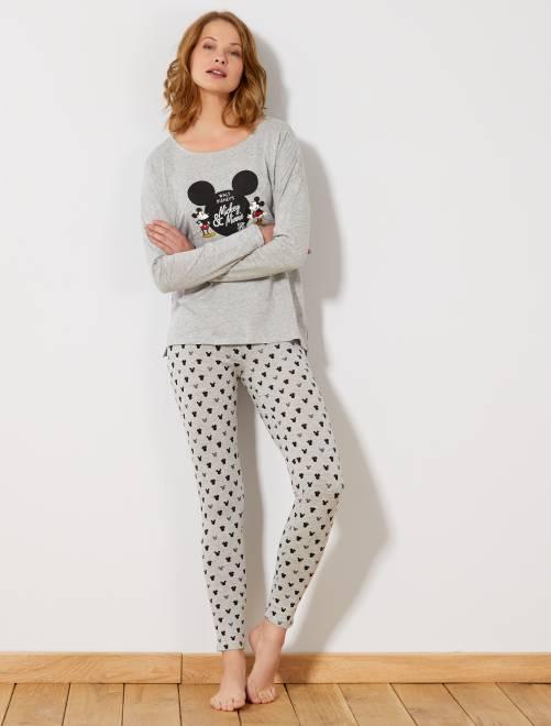 Pijama comprido 'Mickey & Minnie'                                         Cinza Lingerie do s até xxl