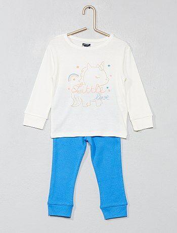 fc65db692 Menina 0-36 meses - Pijama comprido  unicórnio  - Kiabi