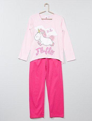 Pijama comprido 'Unicórnio' 'Gru, o mal disposto' - Kiabi
