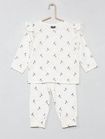 f2c35c708 Menina 0-36 meses - Pijama comprido  zebra  - Kiabi