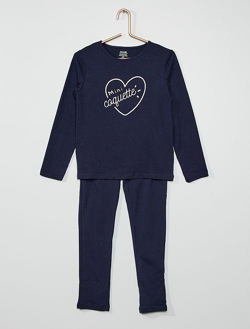 Pijama 'coração'                                                                                         PRETO